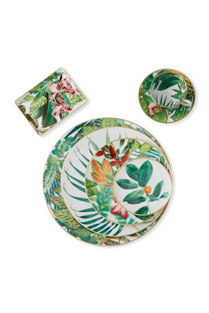 Hermès Passifolia Bread and Butter Plate N2 Passifolia Dessert Plate N1 Passifolia Teacup & Saucer