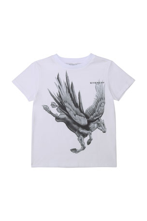 Givenchy Boy's Griffin Unicorn Graphic T-Shirt, Size 4-10 Boy's Griffin Unicorn Graphic T-Shirt, Size 12-14