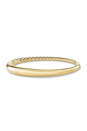 David Yurman 6.5mm Pure Form Smooth 18K Bracelet 6.5mm Small Pure Form Hinge Bracelet in 18K Gold 6.5mm Large Pure Form Hinge Bracelet in 18K Gold