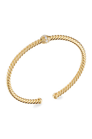 David Yurman 18K Renaissance Center-Station Bracelet with Diamonds, Size L 18K Renaissance Center-Station Bracelet with Diamonds, Size M 18K Renaissance Center-Station Bracelet with Diamonds, Size S