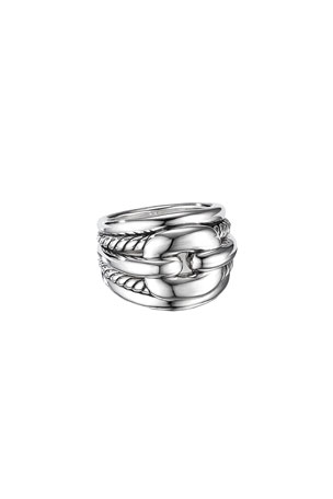 David Yurman Thoroughbred Cushion Link Ring, Size 6 Thoroughbred Cushion Link Ring, Size 9