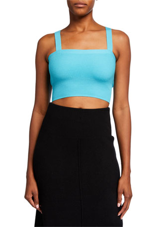 Victor Glemaud Cropped Knit Cami