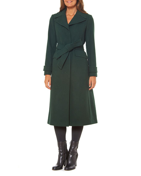 kate spade new york single-breasted maxi wool-blend coat