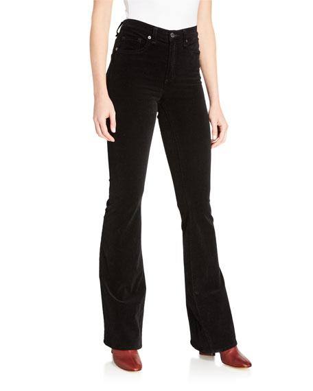 Veronica Beard Beverly Skinny Flare High-Rise Jeans