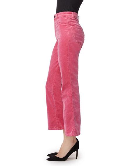J Brand Julia High-Rise Velvet Flare Pants