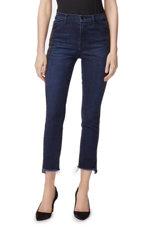 J Brand Ruby High-Rise Crop Cigarette Jeans