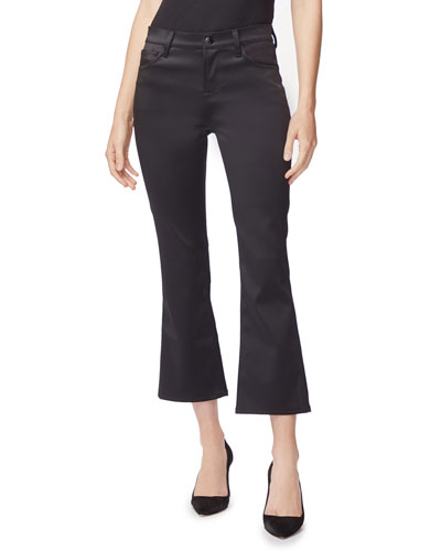 Selena Mid-Rise Crop Boot-Cut Pants