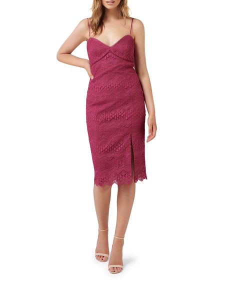 Image 1 of 3: Ever New V-Neck Linear Lace Slip Dress