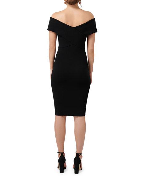 Ever New Odette Off-the-Shoulder Bondage Dress w/ Ring Detail