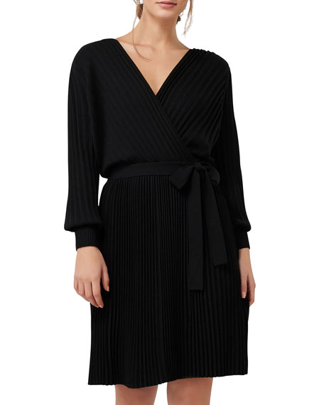 Image 2 of 4: Ever New Cindy Long-Sleeve Pleat Dress