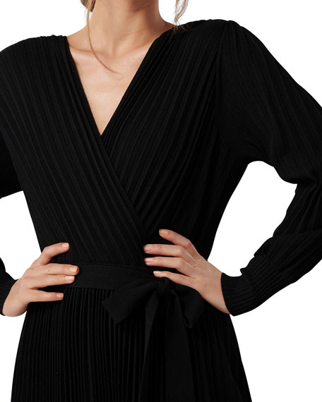 Image 4 of 4: Ever New Cindy Long-Sleeve Pleat Dress