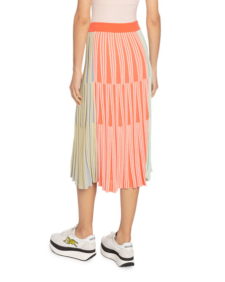 Kenzo Striped Knit Midi Skirt