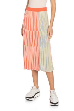 Kenzo Striped Knit Midi Skirt