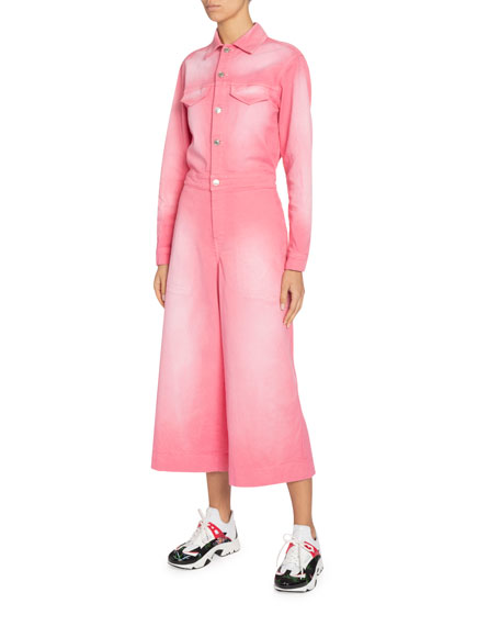 Kenzo Denim Culotte Jumpsuit