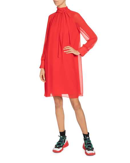 Kenzo High-Neck Flared Tunic Dress
