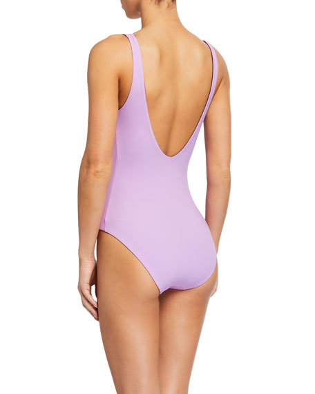 kate spade new york reversible keyhole front one-piece swimsuit