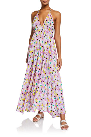 kate spade new york floral halter maxi dress coverup