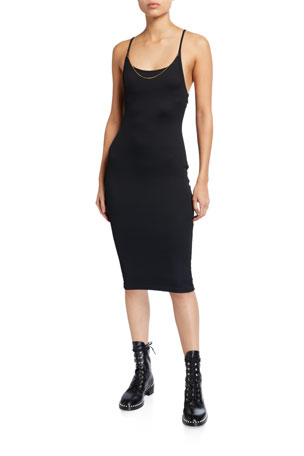 alexanderwang.t Tech Bodycon Midi Dress
