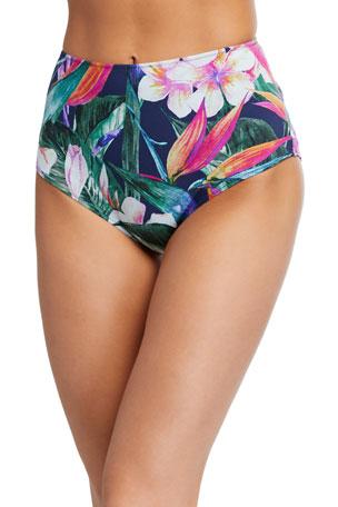 Chiara Boni La Petite Robe Onnys Floral High-Waist Bikini Bottoms