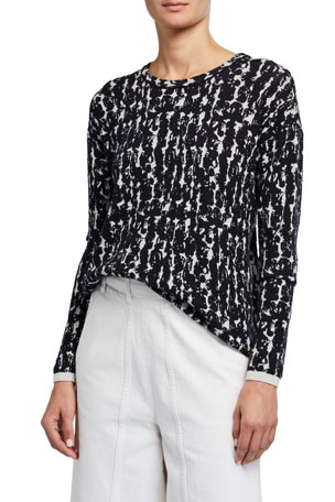 Christian Wijnants Kayla Round-Neck Jacquard Sweater