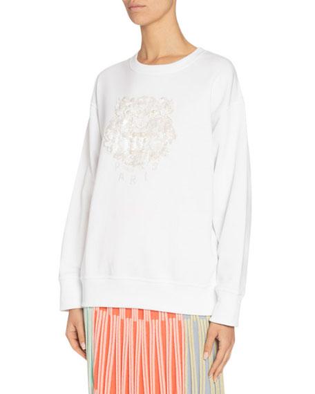 Kenzo Embellished Tiger Logo Sweatshirt