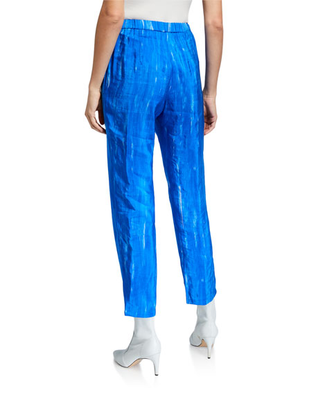Image 2 of 3: Christian Wijnants Brushstroke Print Elastic Waistband Trousers