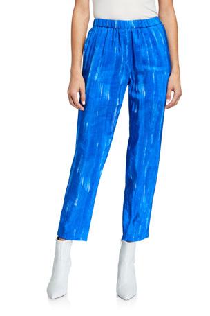 Christian Wijnants Brushstroke Print Elastic Waistband Trousers
