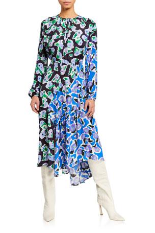 Christian Wijnants Danica Long-Sleeve Dress With Gathering