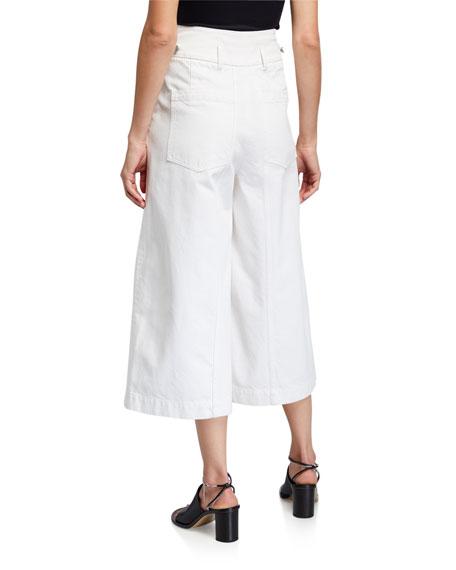 Christian Wijnants Pani Cropped Denim Trousers