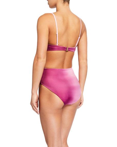 Jonathan Simkhai Ombre Tie-Front Bikini Top