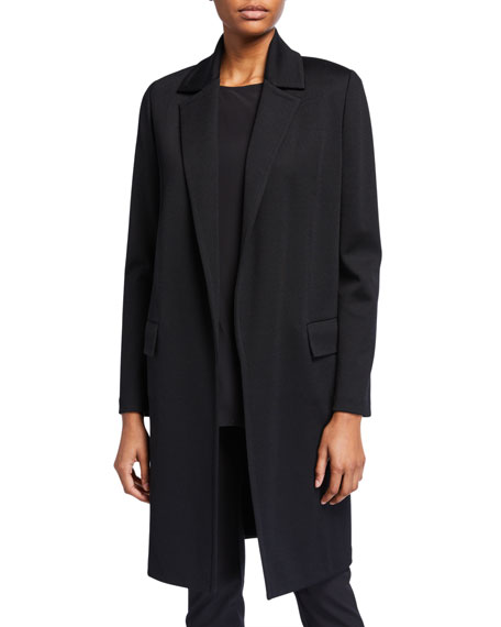 St. John Collection Milano Knit Jacket w/ Top Stitching Detail