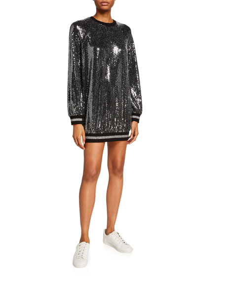 Pam & Gela Mirror Ball Slouchy Mini Dress