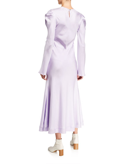 Image 2 of 2: Maggie Marilyn Knot Today Long-Sleeve Silk Dress