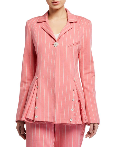 Image 2 of 3: Maggie Marilyn Follow Your Heart Striped Blazer
