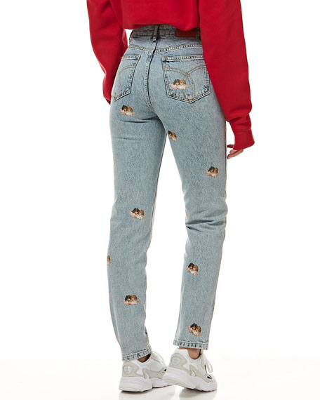 Image 2 of 4: Fiorucci Tara Mini Angels Light Vintage Jeans