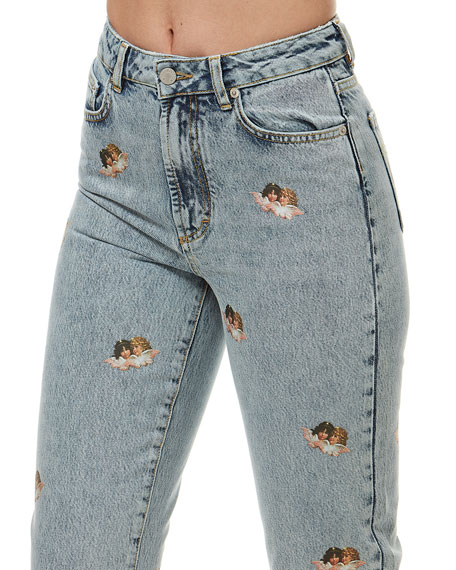 Image 3 of 4: Fiorucci Tara Mini Angels Light Vintage Jeans