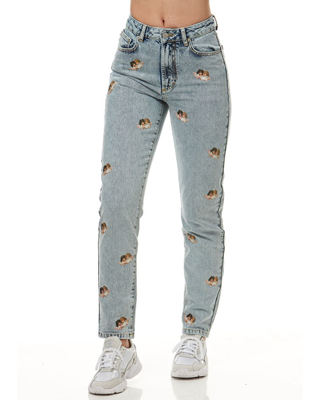 Image 1 of 4: Fiorucci Tara Mini Angels Light Vintage Jeans