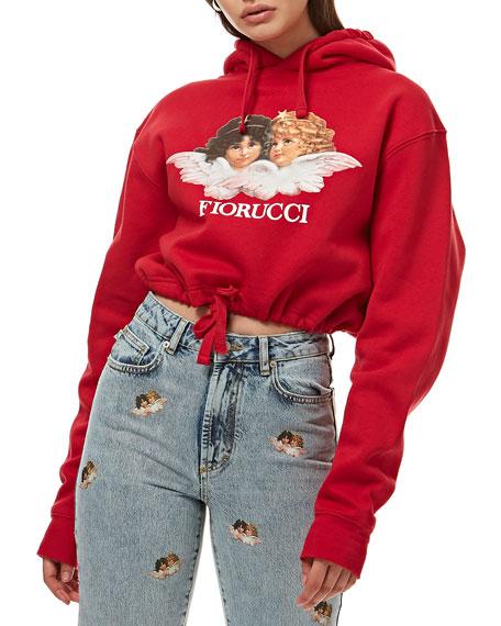 Fiorucci Vintage Angels Crop Hoodie