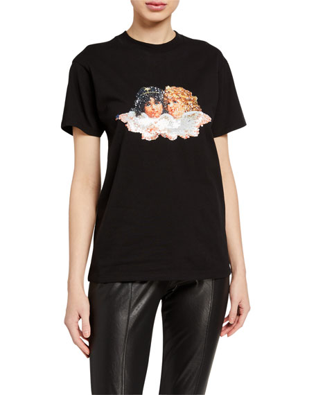 Image 2 of 3: Flip-Sequins Angels Tee