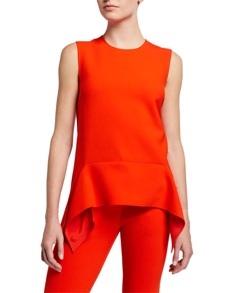 Image 1 of 2: Victoria Victoria Beckham Drape Detail Shell Top