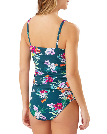 Tommy Bahama Floral Springs Wrap Tankini Top