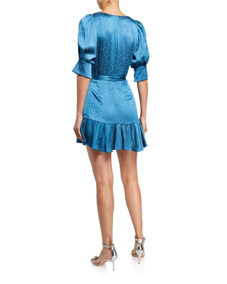 Alexis Vanezia Printed V-Neck Flounce Dress