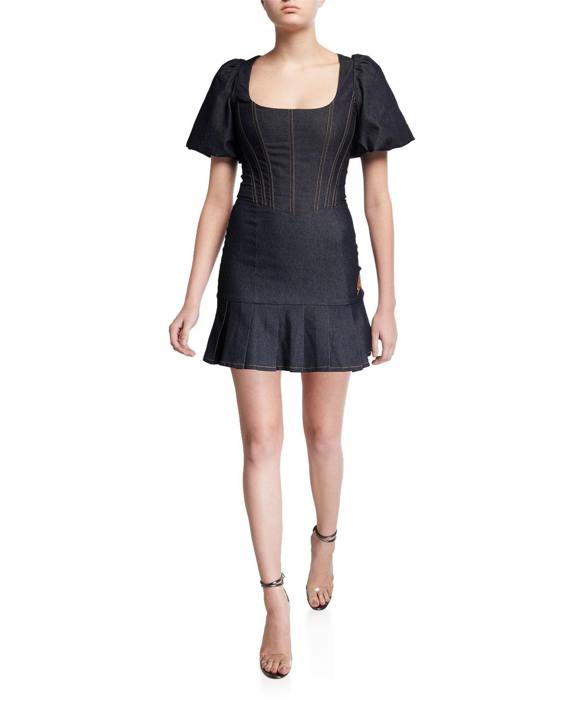 I.AM.GIA Chelsey Denim Corset Mini Dress