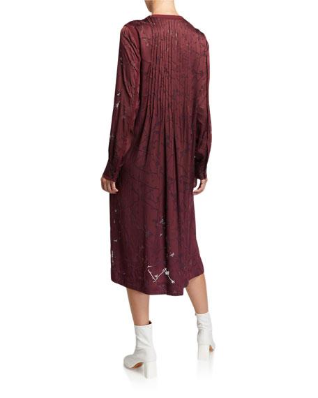 Rag & Bone Rubie Pintuck Burnout Popover Dress