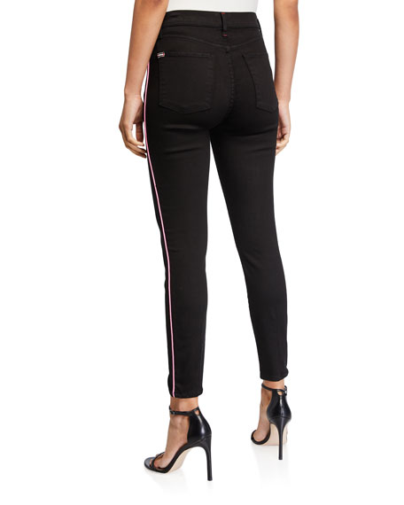 ALICE + OLIVIA JEANS Good High-Rise Ankle Skinny Jeans with Piping