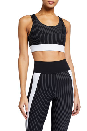 No Ka Oi Gentle Lana Striped Sports Bra