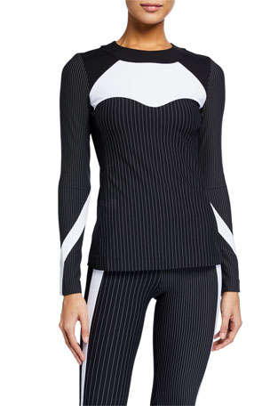 No Ka Oi Gentle Long-Sleeve Striped Top