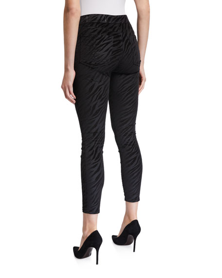 Image 2 of 3: Rag & Bone Nina High-Rise Zebra Zip-Fly Ankle Skinny Jeans