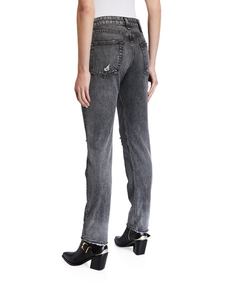 Image 2 of 3: Rosa Mid-Rise Boyfriend Jeans with Ripped Knees
