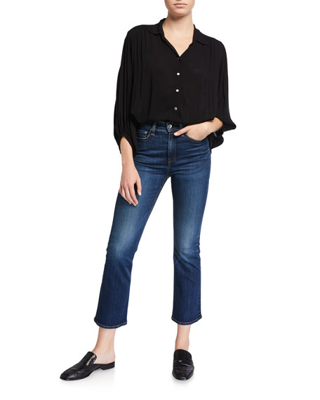 Image 3 of 3: Rag & Bone Nina High Rise Ankle Flare Jeans